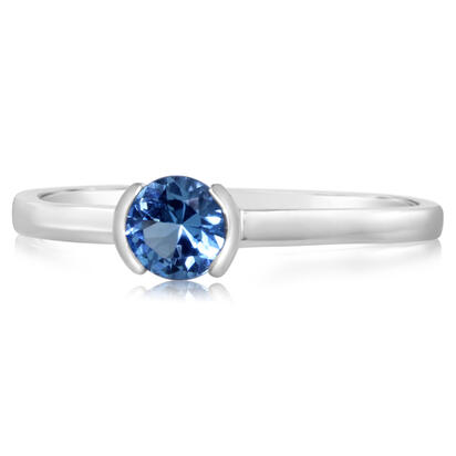 14K White Gold Blue Topaz Ring | RCC229B2XWI