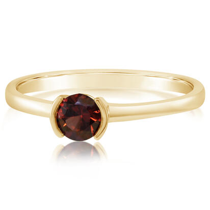 14K Yellow Gold Garnet Ring | RCC229G2XCI