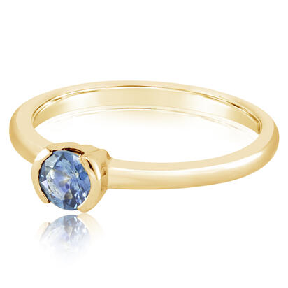 14K Yellow Gold Aquamarine Ring | RCC229Q2XCI
