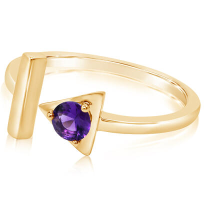 14K Yellow Gold Amethyst Ring | RCC232A2XCI