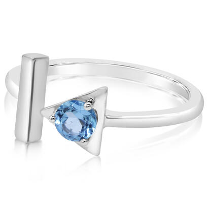 14K White Gold Blue Topaz Ring | RCC232B2XWI