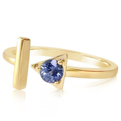 14K Yellow Gold Blue Topaz Ring | RCC232B2XCI