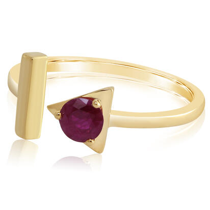 14K Yellow Gold Ruby Ring | RCC232R2XCI