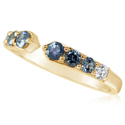 14K Yellow Gold Montana Sapphire/Diamond Ring | RCC236MS2CI