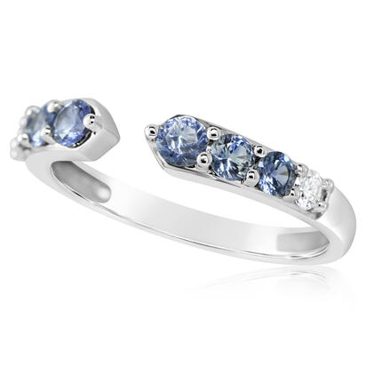 14K White Gold Montana Sapphire/Diamond Ring | RCC236MS1WI