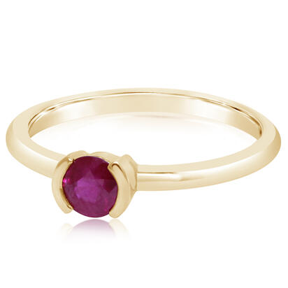 14K Yellow Gold Ruby Ring | RCC329R2XCI
