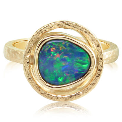 14K Yellow Gold Australian Opal Doublet Ring | RCF0123AXCI