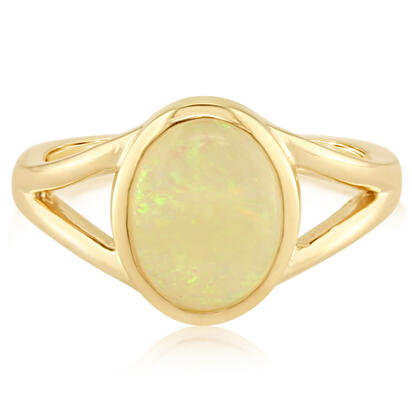 14K White Gold Natural Opal Ring | RCO030N1XW