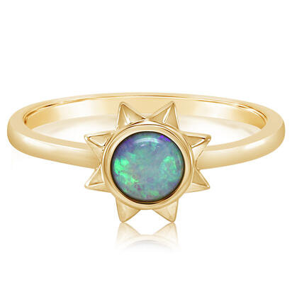14K Yellow Gold Blue Topaz Ring | RPF361B2XC