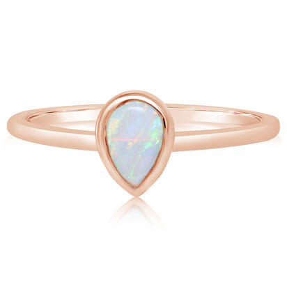 14K Rose Gold Australian Opal Ring | RCO063N1XR