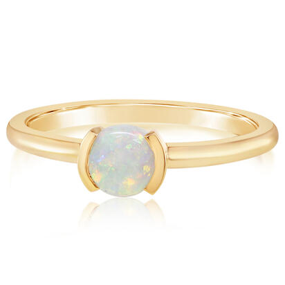 14K Yellow Gold Australian Opal Ring | RCO229N1XC