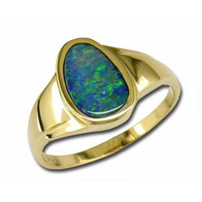 14K Yellow Gold Freeform Opal Ring | RNAT001-7I
