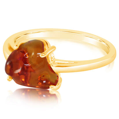 14K Yellow Gold Fire Opal Ring | RFOFF150176C