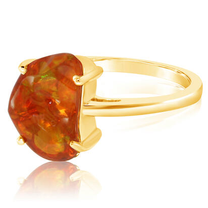 14K Yellow Gold Fire Opal Ring | RFOFF150258C
