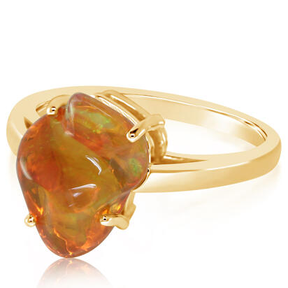 14K Yellow Gold Fire Opal Ring | RFOFF200354C
