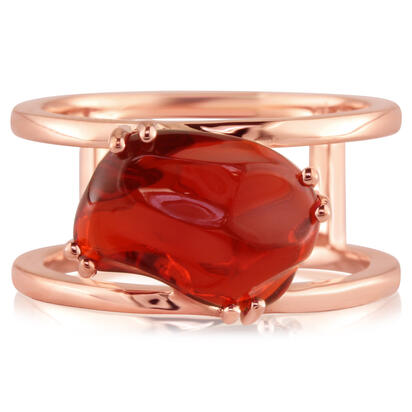 14K Rose Gold Mexican Fire Opal Ring | RFOFF40324R