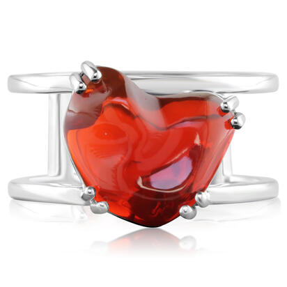 14K White Gold Mexican Fire Opal Ring | RFOFF40390W