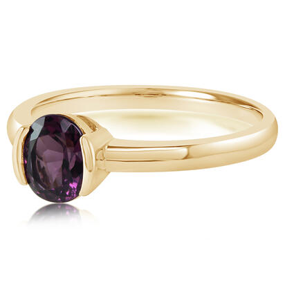 14K Yellow Gold Purple Garnet Ring | RGPOV892105CI
