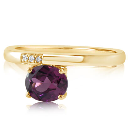 14K Yellow Gold Purple Garnet/Diamond Ring | RGPOV892137CI