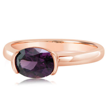 14K Rose Gold Purple Garnet Ring | RGPOV892173RI