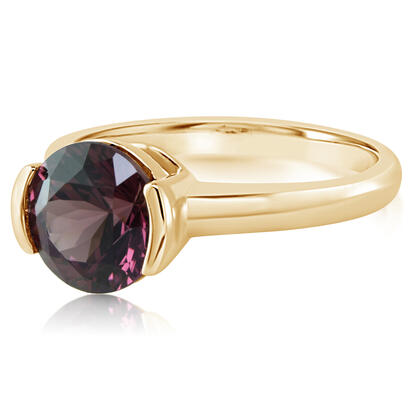 14K Yellow Gold Purple Garnet Ring | RGPRD700263CI