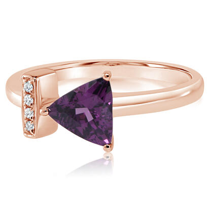 14K Yellow Gold Purple Garnet/Diamond Ring | RGPTR892097RI