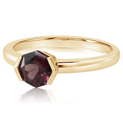 14K Yellow Gold Rhodolite Garnet Ring | RL2FS990101CI
