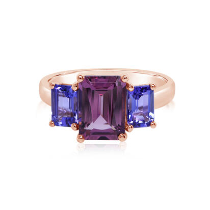 14K Rose Gold Rhodolite/Tanzanite Ring | RL2RT950251R