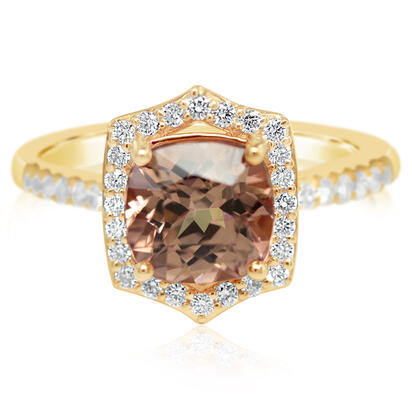 14K Rose Gold Lotus Garnet/Diamond Ring | RLGCU900234RI
