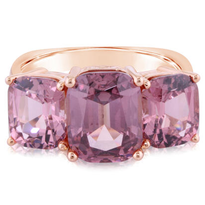 14K Rose Gold Lotus Garnet 3-Stone Ring | RLGCU900373R