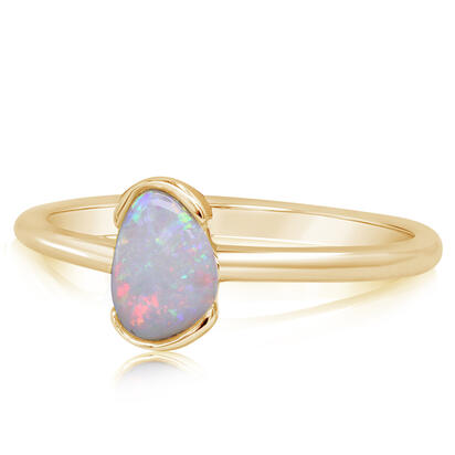 14K Yellow Gold Australian Opal Ring | RNO051-2I