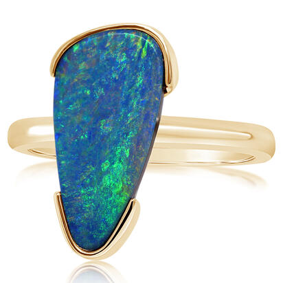 14K Yellow Gold Australian Opal Doublet Ring | ROD3312AXCI