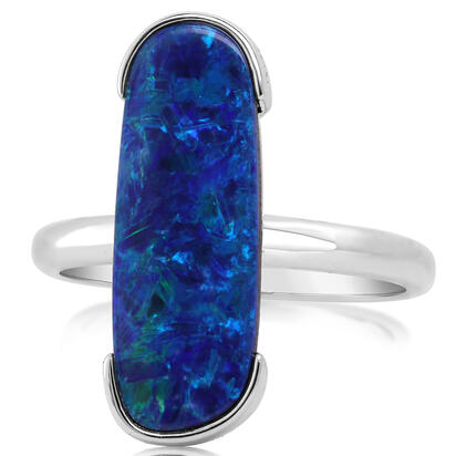 14K Yellow Gold Australian Opal Doublet Ring | ROD3312AXWI