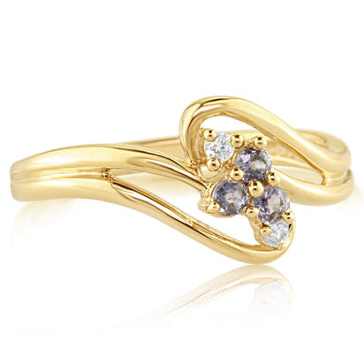 14K Yellow Gold Yogo Sapphire/Diamond Ring | RPF013Y22CI