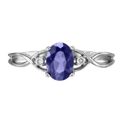 14K White Gold Tanzanite/Diamond Ring | RPF046J22WI