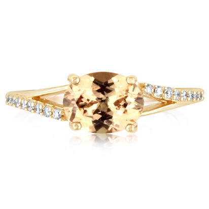 14K Rose Gold Lotus Garnet/Diamond Ring | RPF049LG2RI
