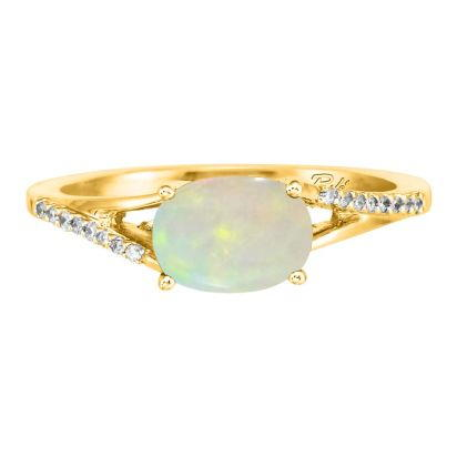 14K Yellow Gold Opal/Diamond Ring | RPF049N12CI