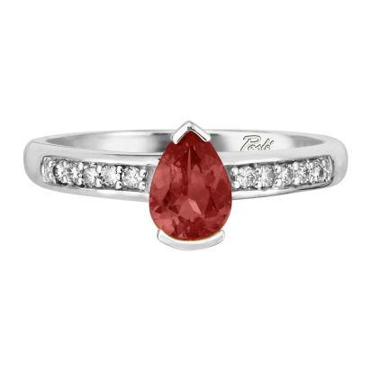 14K Yellow Gold Idaho Garnet/Diamond Ring | RPF070O42CI