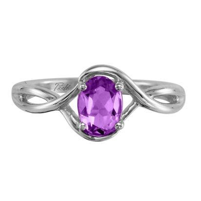 14K White Gold Amethyst Ring | RPF071A2XWI