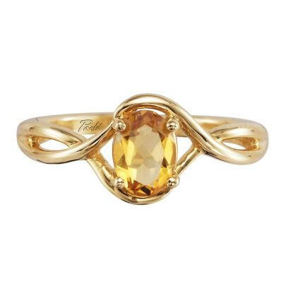 14K Yellow Gold Citrine Ring | RPF071C2XCI