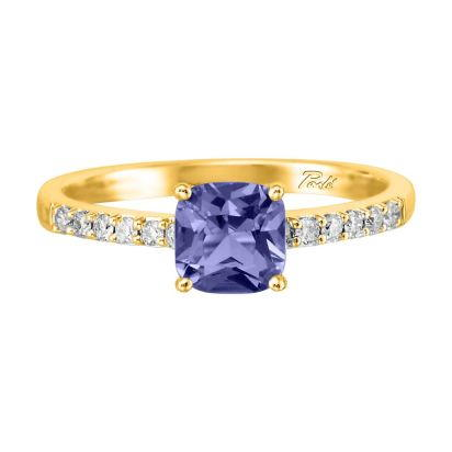 14K Yellow Gold Tanzanite/Diamond Ring | RPF076JK2CI