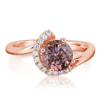 14K Rose Gold Lotus Garnet/Diamond Ring | RPF094LG2RI