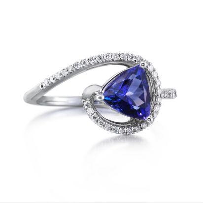 14K White Gold Tanzanite/Diamond Ring | RPF127J22WI