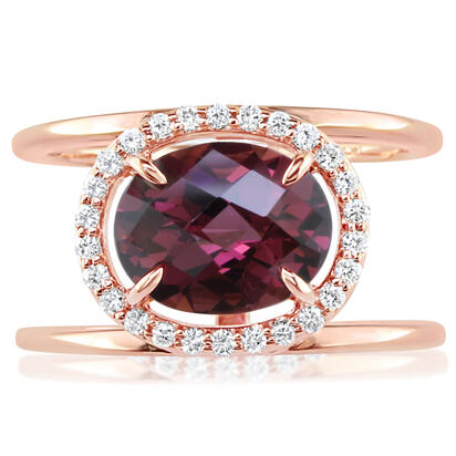 14K Rose Gold Semi-Mount/Diamond Ring | RPF212XX1RI