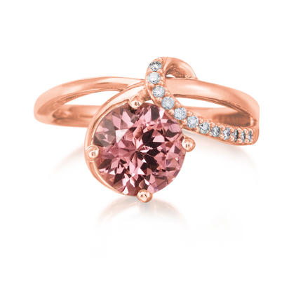 14K Rose Gold Lotus Garnet/Diamond Ring | RPF164LG2R