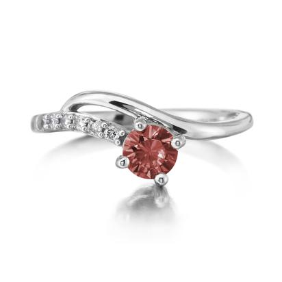 14K White Gold Idaho Garnet/Diamond Ring | RPF173O42C