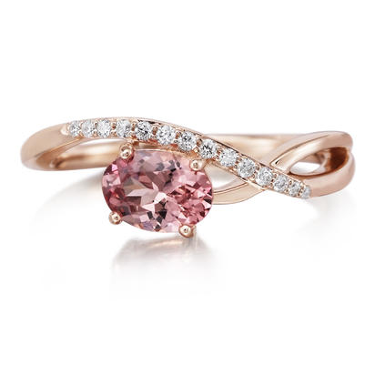 14K Rose Gold Lotus Garnet/Diamond Ring | RPF184LG2RI