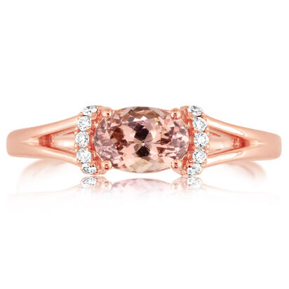 14K Rose Gold Lotus Garnet/Diamond Ring | RPF196LG2RI