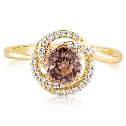 14K Rose Gold Lotus Garnet/Diamond Ring | RPF204LG1RI