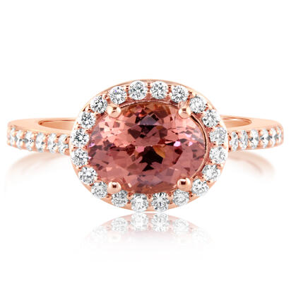 14K Rose Gold Lotus Garnet/Diamond Ring | RPF213LG1RI